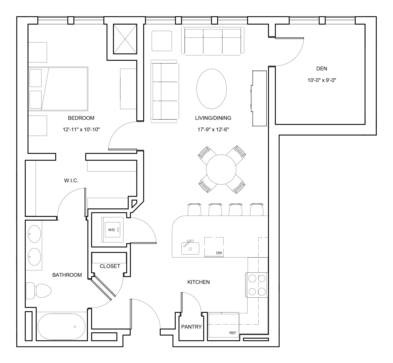 One-Bedroom + Den