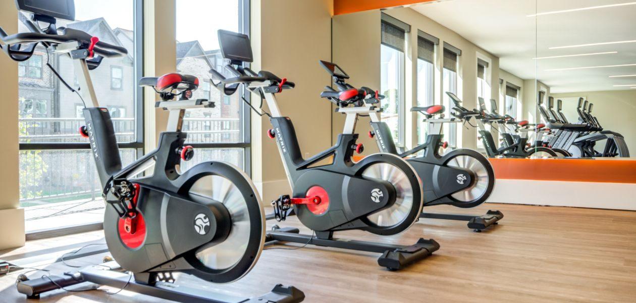 Fitness Center Spin Bikes
