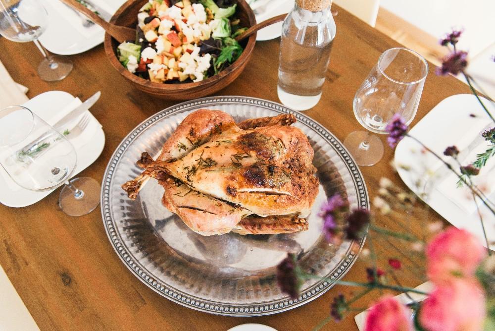food and wine glass